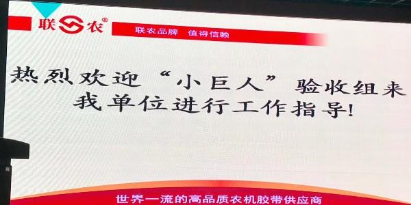"""【联农】三角带厂家迎接""""小巨人""""验收"""